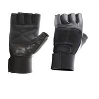 Перчатки черные с фиксатором